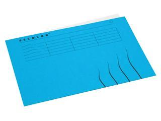 Vouwmap Jalema Secolor A4 gelijk blauw