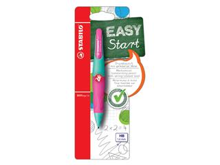 Vulpotlood STABILO Easyergo 1.4mm rechtshandig turquoise/neon roze blister