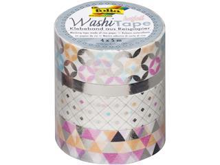 Washi tape hotfoil zilver