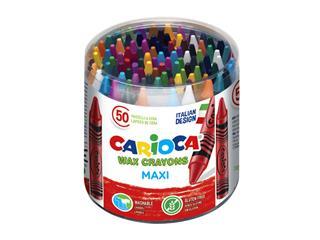 Waxkrijtjes Carioca pot à 50 stuks kleuren
