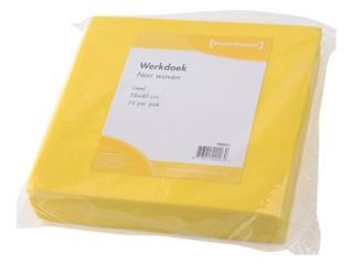 Werkdoek Non Woven geel 38x40cm
