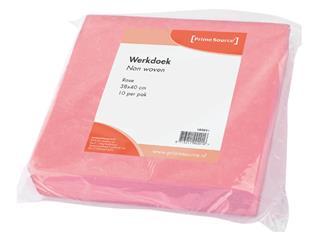 Werkdoek Non Woven roze 38x40cm 10 stuks