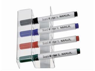 Whiteboard stifthouder MAUL acryl magnetisch voor 4 stiften