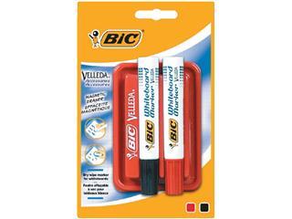 Whiteboardwisser Bic magnetisch met 2 markers blister