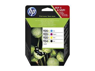 Inkcartridge HP X4E14AE 934XL/935XL zwart + 3 kleuren HC