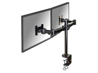 "Monitorarm Neomounts D960D 2x10-27"" met klem zwart"