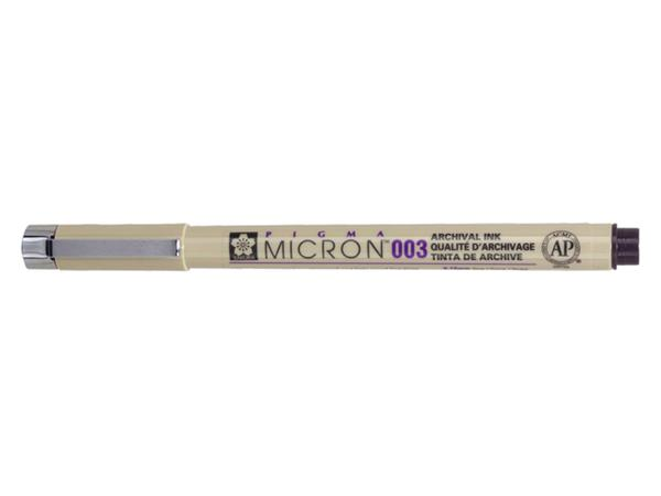 Fineliner Sakura pigma micron 003 zwart 0.15mm