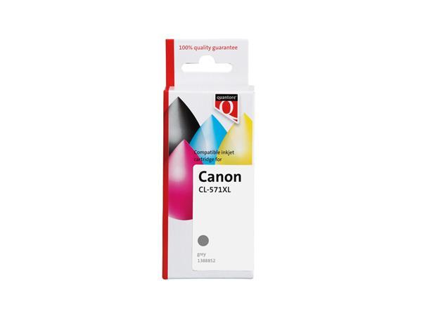 Inktcartridge Quantore Canon CLI-571XL grijs