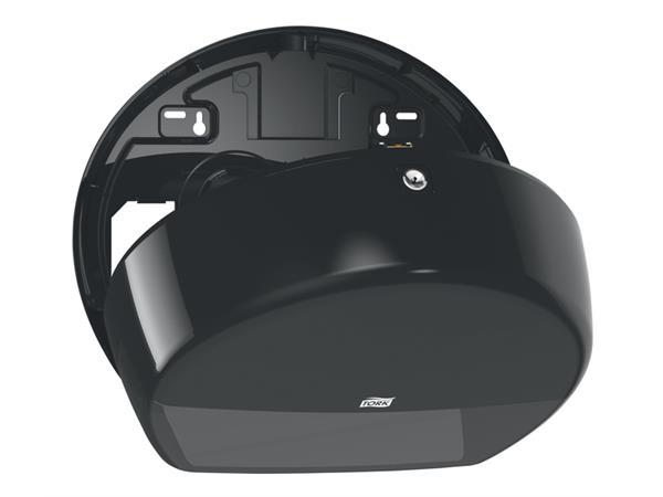 Dispenser Tork T2 555008 mini jumbo toiletpapierdispenser zwart
