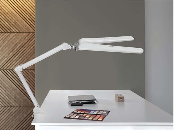 Werkpleklamp MAUL Craft duo LED dimbaar met tafelklem wit