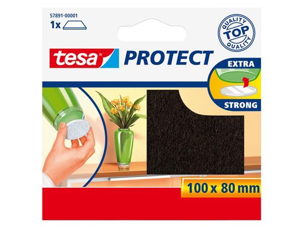 Beschermvilt Tesa antikras 57891 80x100mm bruin
