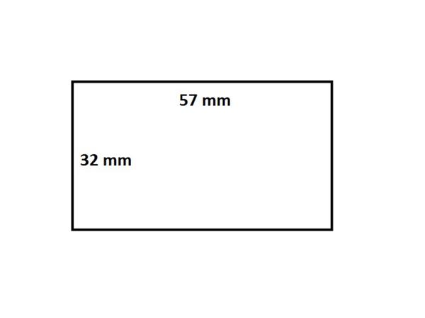 Zebra labeletiket Quantore 800262-125 57x32mm 25mm wit permanent