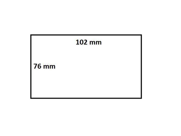 Zebra labeletiket Quantore 880191-076D 102x76mm 25mm wit permanent