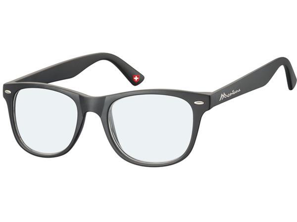 Leesbril Montana blue light filter +3.50 dpt zwart