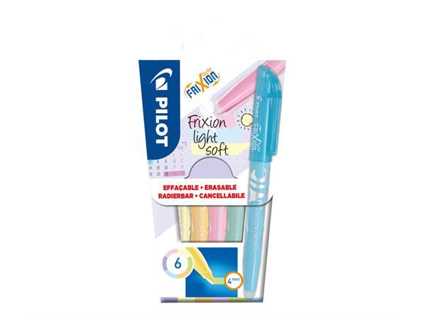 Markeerstift PILOT Frixion Soft set à 6 kleuren