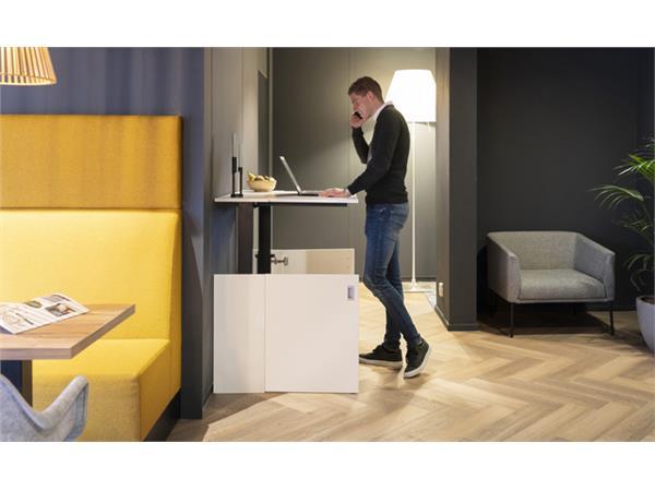 Zit-Sta werkplek Homefit wit