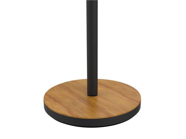 Vloerlamp Unilux Baly LED zwart/bamboe