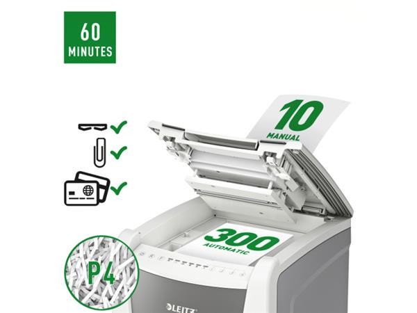 Papiervernietiger Leitz IQ Auto+ Office 300 P4 snippers 4x28mm