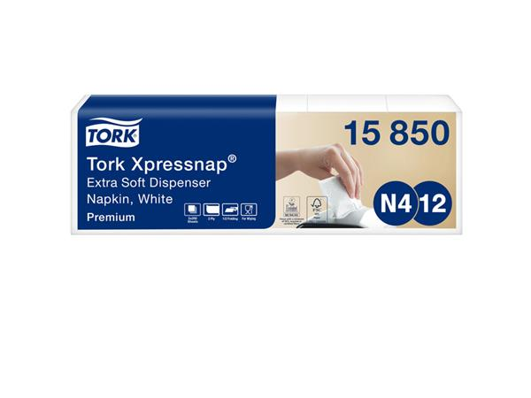 Servetten Tork Xpressnap extra zacht 21.3×16.5 wit 1000st