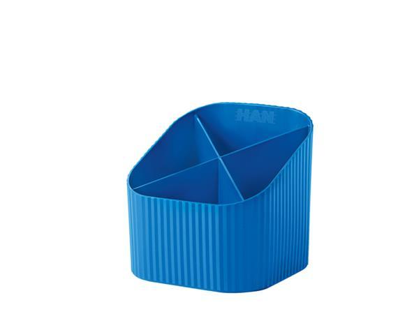 Pennenkoker Han Re-LOOP 4-vaks blauw