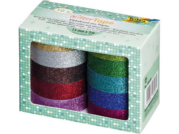 Tape Folia glitter 5mx15mm assorti