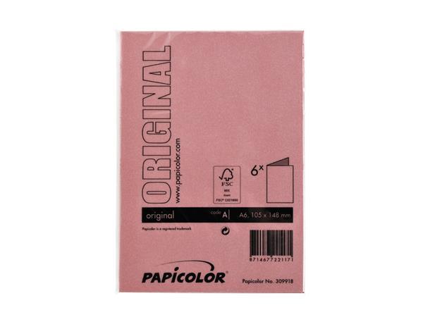 Correspondentiekaart Papicolor dubbel 105x148mm Rood