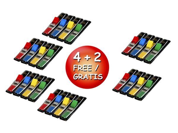 Indextabs 3M Post-it 6834 11.9x43.1mm 4+2 gratis
