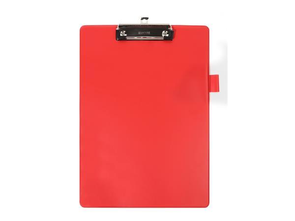 Klembord Quantore A4 rood met 100mm klem + penlus