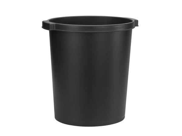 Papierbak Jalema Re-Solution 15liter met griprand zwart