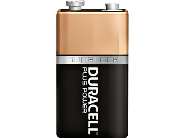BATTERIJ DURACELL 9V PLUS POWER 50% ALKALINE