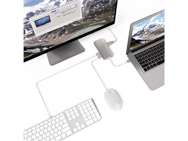 Dockingstation Hama USB-C 7-in-1 grijs