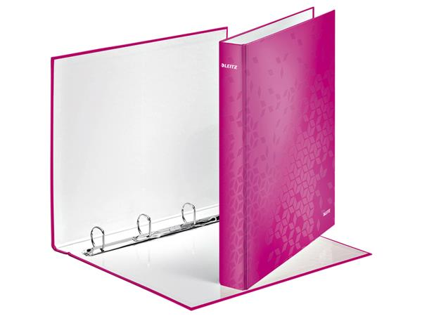 RINGBAND LEITZ WOW 4242 4RINGS A4 25MM ROZE