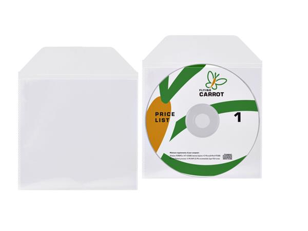 DVD/CD hoes met klep 125x128mm bio degradable