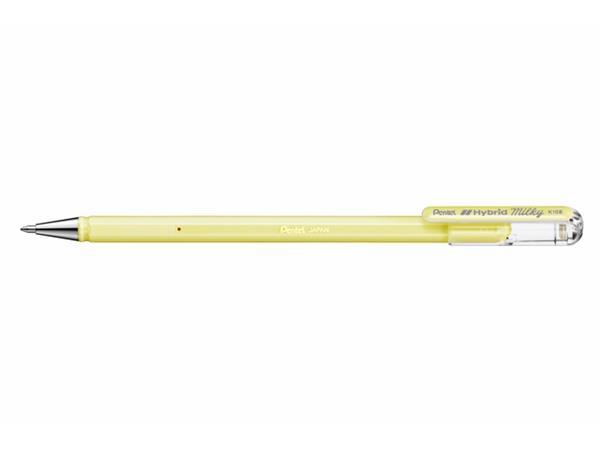 Gelschrijver Pentel K108-P 0.5mm pastel geel