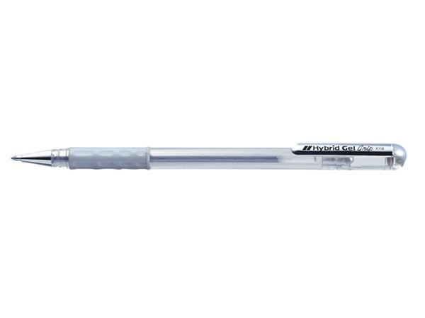 Gelschrijver Pentel K118 zilver 0.3mm