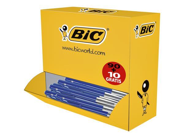 Balpen Bic M10 blauw medium doos 90+10 gratis