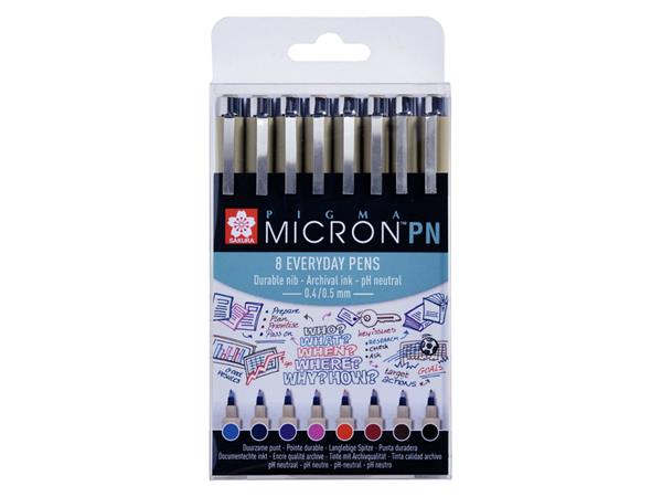 FINELINER SAKURA PIGMA MICRON PN 0.4MM ASS