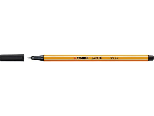 Fineliner STABILO point 88/46 zwart