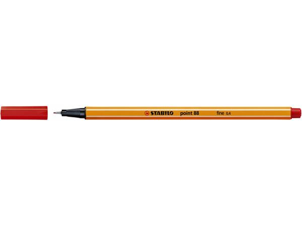 Fineliner STABILO point 88/40 rood