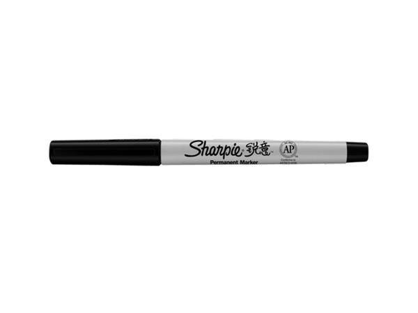 Viltstift Sharpie rond 0.5mm zwart blister à 2 stuks