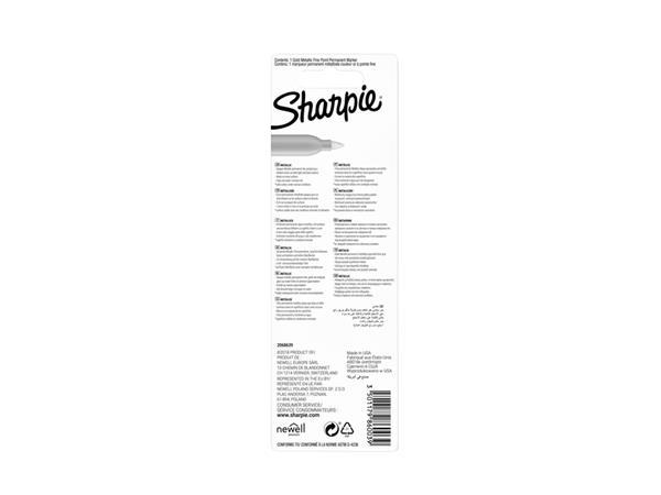 VILTSTIFT SHARPIE ROND 0.9MM METALLIC GOUD