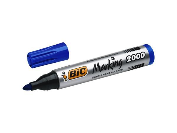 Viltstift Bic 2000 rond blauw 1.7mm