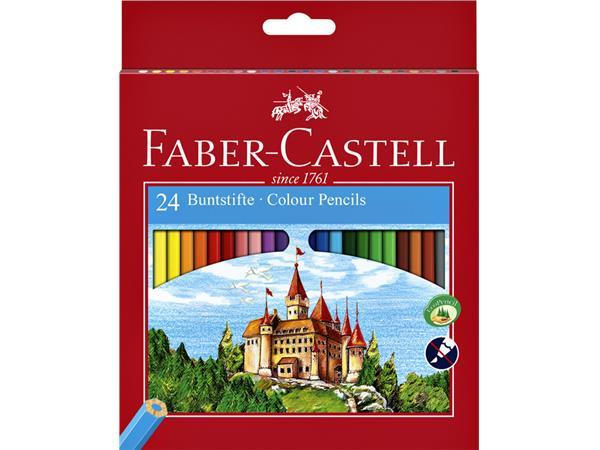 Kleurpotloden Faber Castell set à 24 stuks assorti