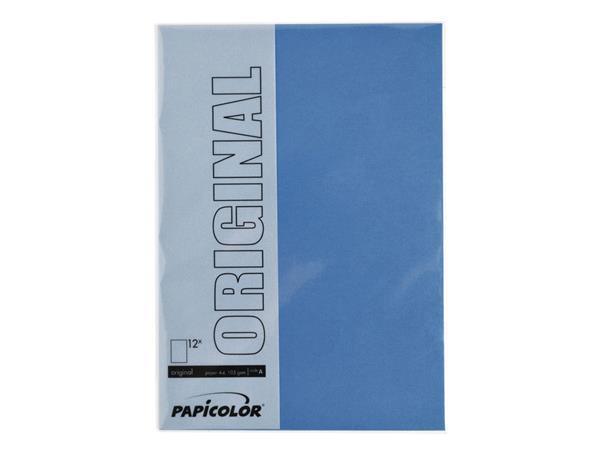 Kopieerpapier Papicolor A4 200gr 6vel royal blue