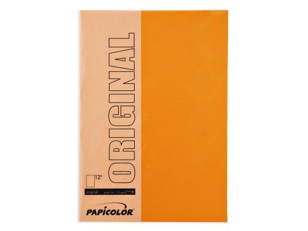 Kopieerpapier Papicolor A4 200gr 6vel oranje
