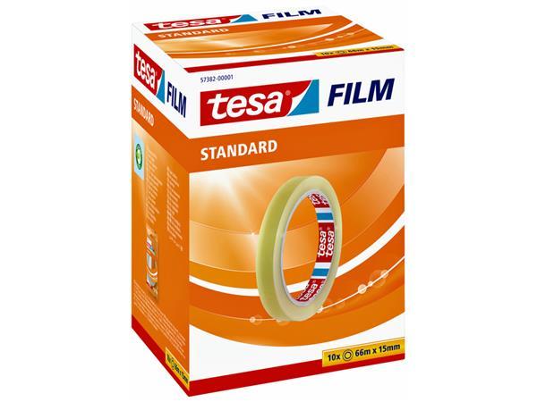 PLAKBAND TESA 57382 15MMX66M STANDAARD TR