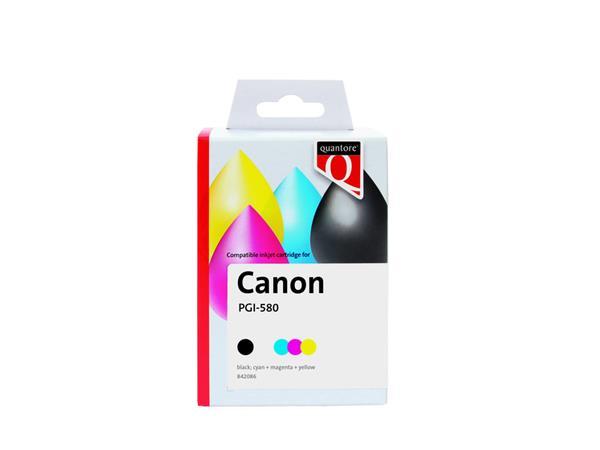 Inktcartridge Quantore Canon PGI-580XXL CLI-581XXL 2x zwart + 3 kleuren