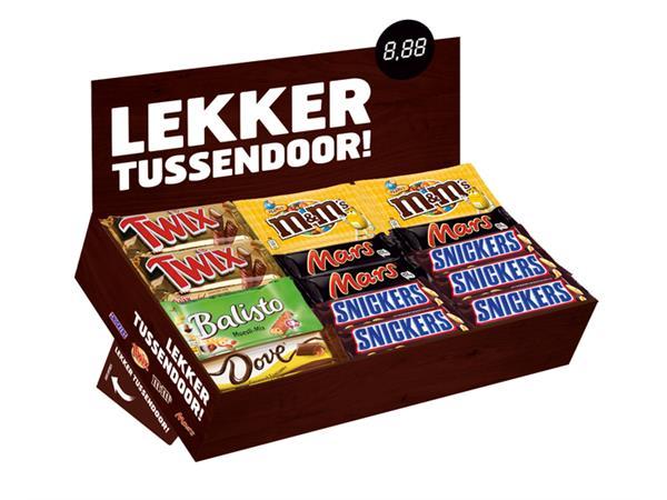Candy box 9xMars-15xSnickers-8xTwix-8xMM-4xBalisto-5xDove