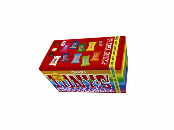 Chocolade Tiny Tony's Chocolonely 22 stuks mix