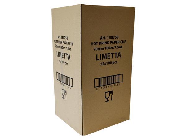 Beker karton Limetta bedrukt 180cc 2500 stuks
